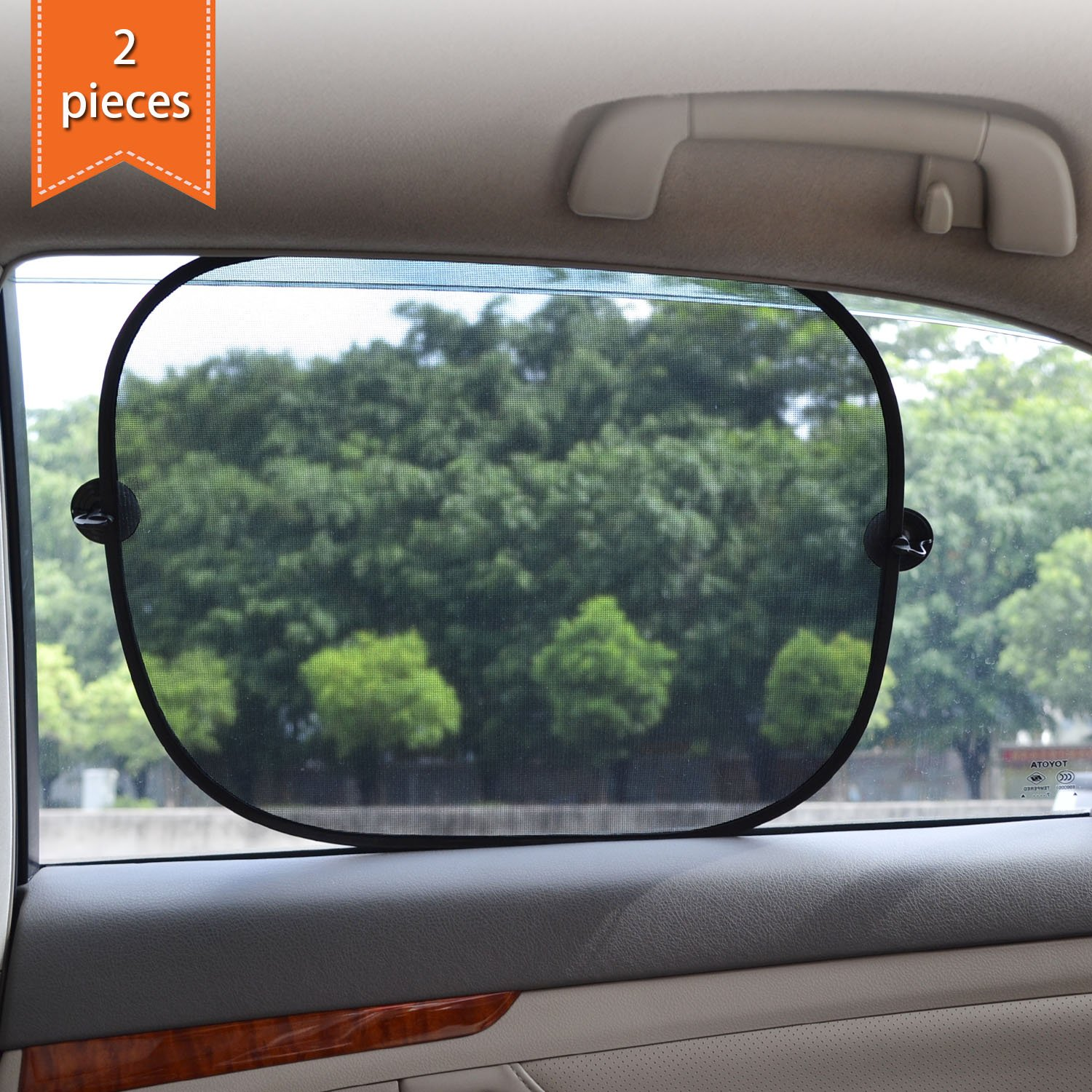 Protect Your Children From Sun and UV Rays 3 Pieces WP-REAR/_SIDEMESH WANPOOL Sun Shade Shield Sunlight Blocker for Car Side and Rear Windows
