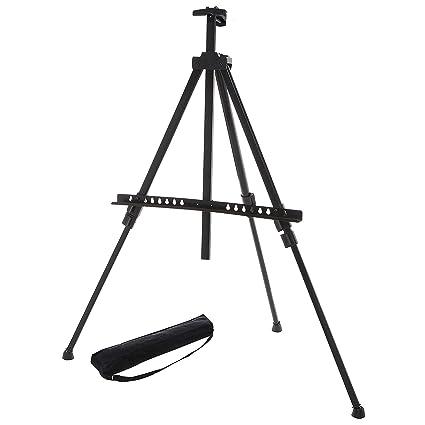 Ajustable negro trípode de aluminio caballete/independiente ...