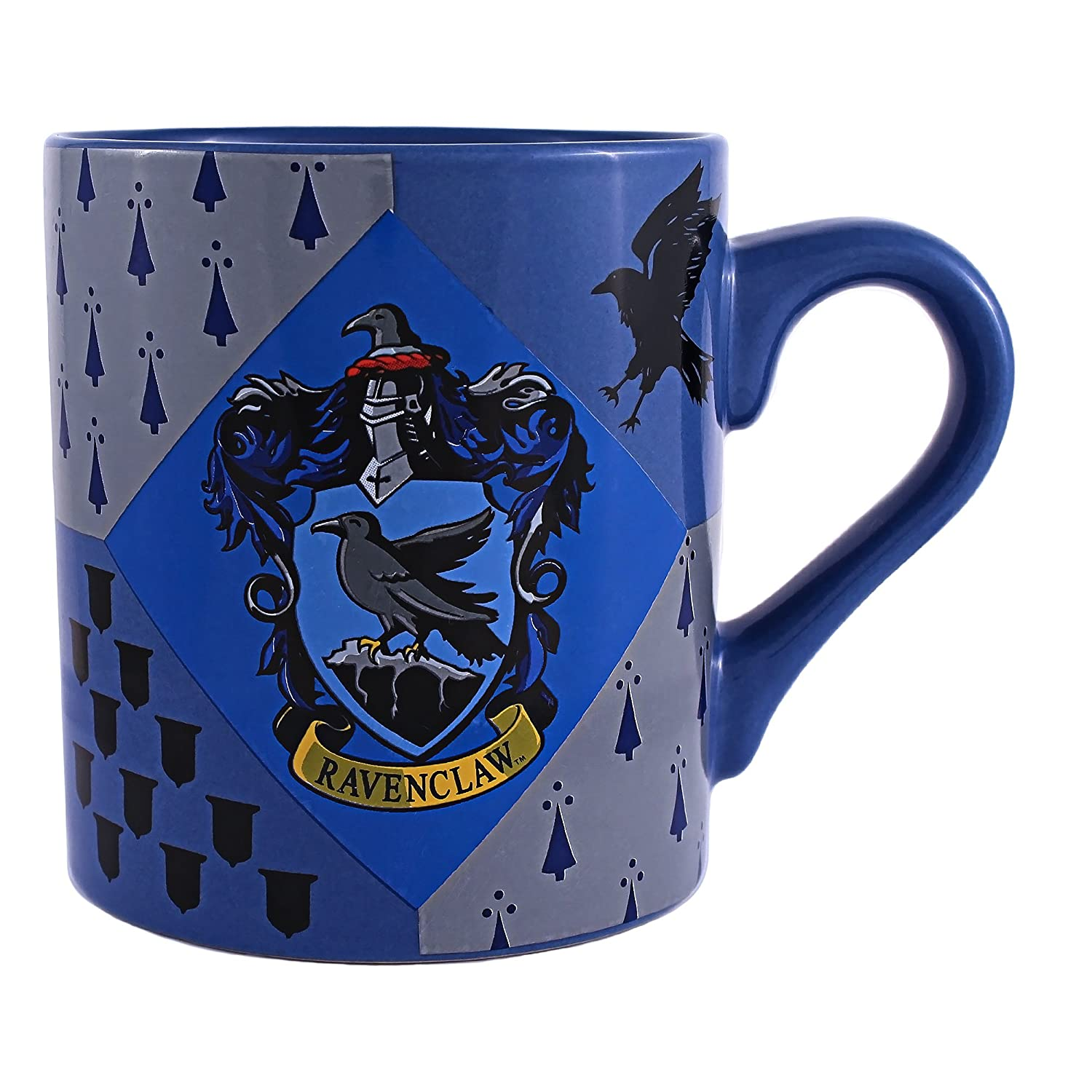 Silver Buffalo HP6932 Harry Potter Ravenclaw House Crest Ceramic Mug, 14-Ounces