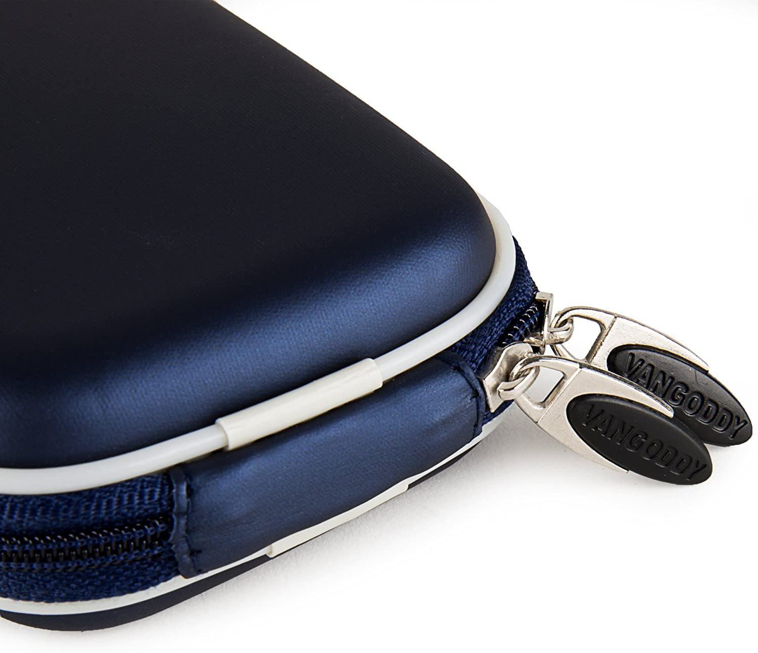 VanGoddy Semi Hard EVA Carrying Case for Ivation IV WPDC20 Waterproof Digital Camera and Screen Protector Navy Blue