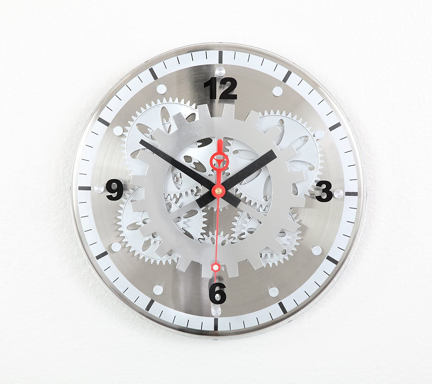 10 best modern wall clocks you should consider for your decor 10 maples 12 inch moving gear modern wall clock glass cover amipublicfo Gallery