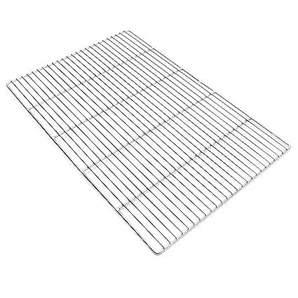 Parrilla rectangular 60x40 cm Barbacoa Plancha Asadero Acero Inoxidable universal