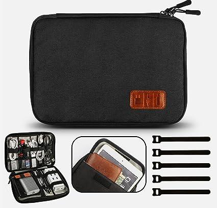 GiBot Electrónico Organizador de Cable Accesorios Electrónicos Portable Bolsa de para Cables: Amazon.es: Electrónica