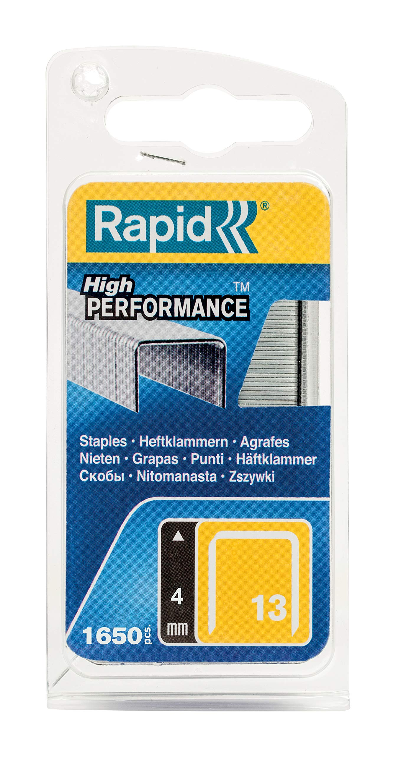 Rapid High Performance Staples, No.13, Leg Length 4 mm, 40109518-1650 Pieces