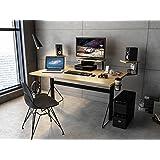 Jamesdar JCDES888-BK Carnegie Gaming Desk, X-Large, Black