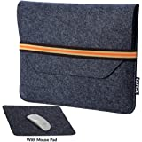 GIZGA Protective Felt Laptop Sleeve for 15 to 15.6 Inch Laptops (Slate Grey)