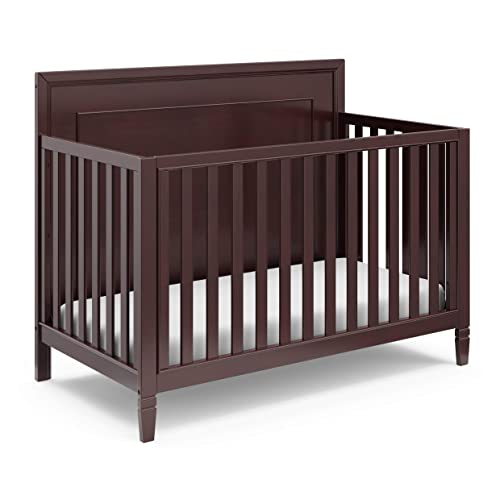 Storkcraft Nightingale 4-in-1 Convertible Crib Espresso Easily Converts to Toddler Bed