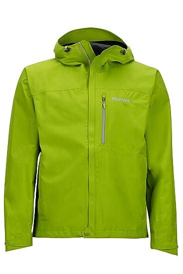 e2dd38445 Amazon.com: Marmot Minimalist Men's Lightweight Waterproof Rain Jacket,  GORE-TEX with PACLITE Technology, Small, Green Lichen: Clothing