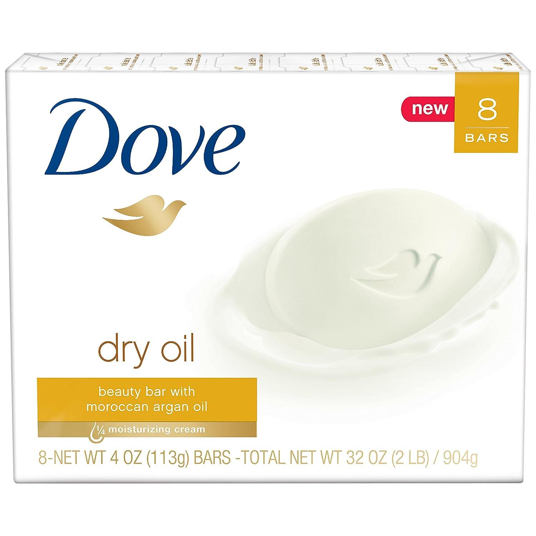 Dove Beauty Bar, Dry Oil, 4 oz, 8 Bar