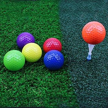 crestgolf seis colores pelotas de golf pelotas de golf, campo, pack de 6: Amazon.es: Deportes y aire libre