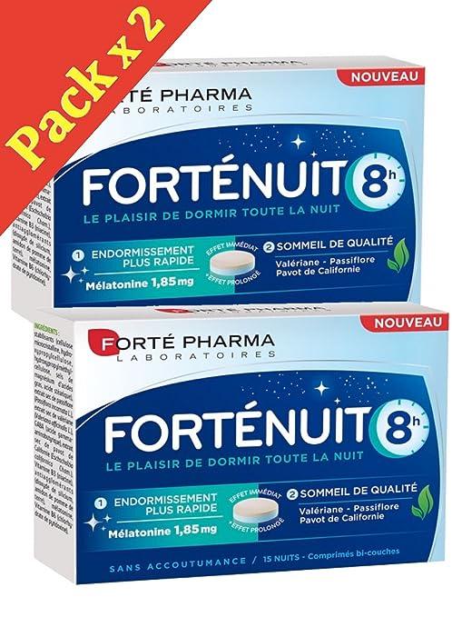 Forté Pharma – forténuit 8 horas – 1 mes de tratamiento – Lote de 2 cajas
