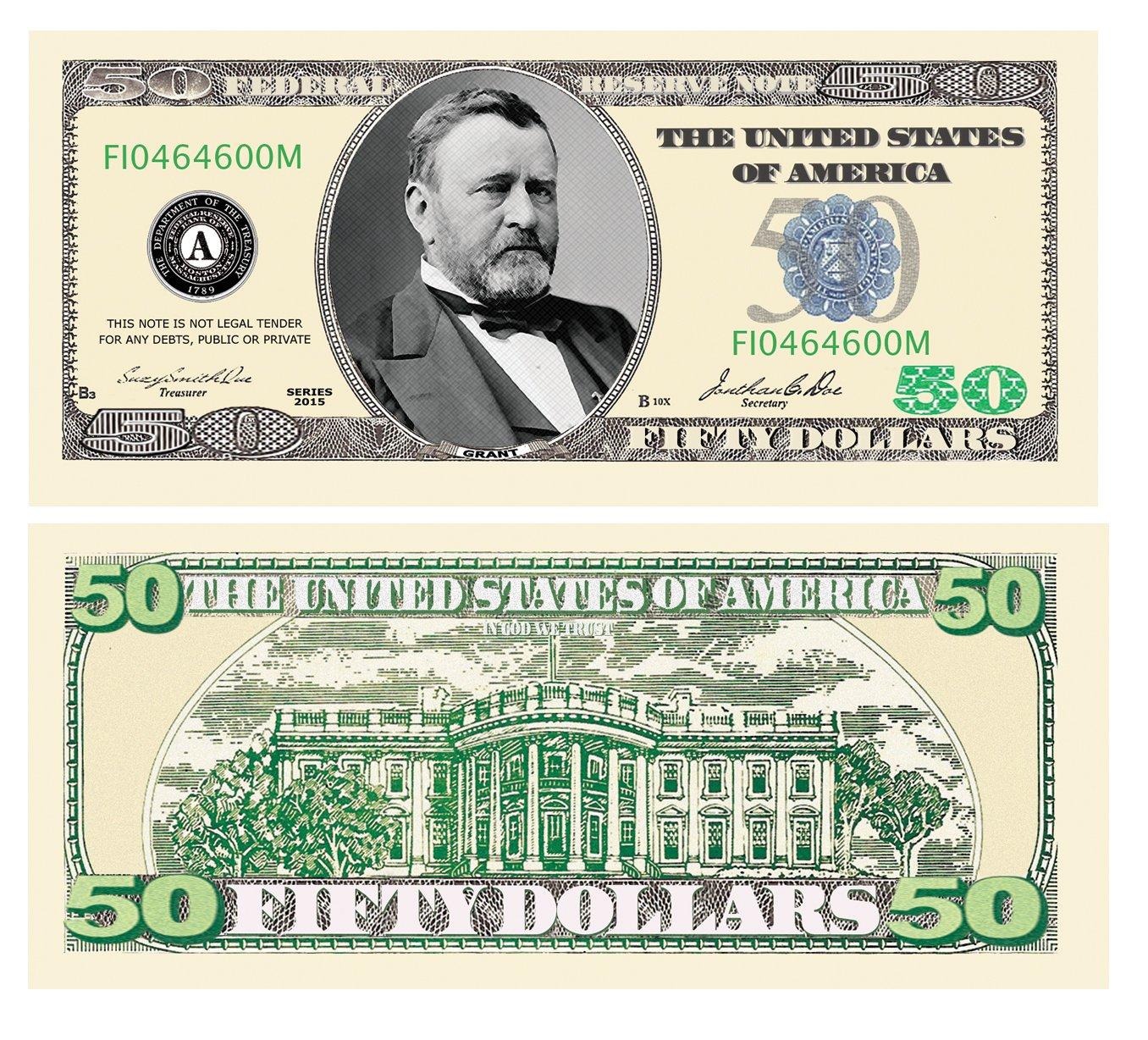 American Art Classics Set of 100 - $50.00 Casino Party Money by American Art Classics