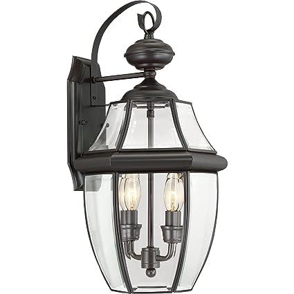 quoizel ny8317z newbury 2 light outdoor lantern medici bronze