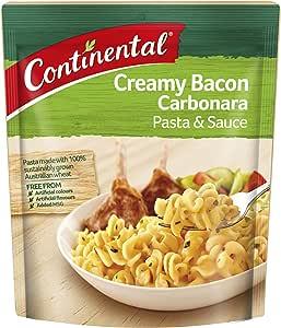 CONTINENTAL Pasta & Sauce (Side Dish) | Creamy Bacon Carbonara, 85g