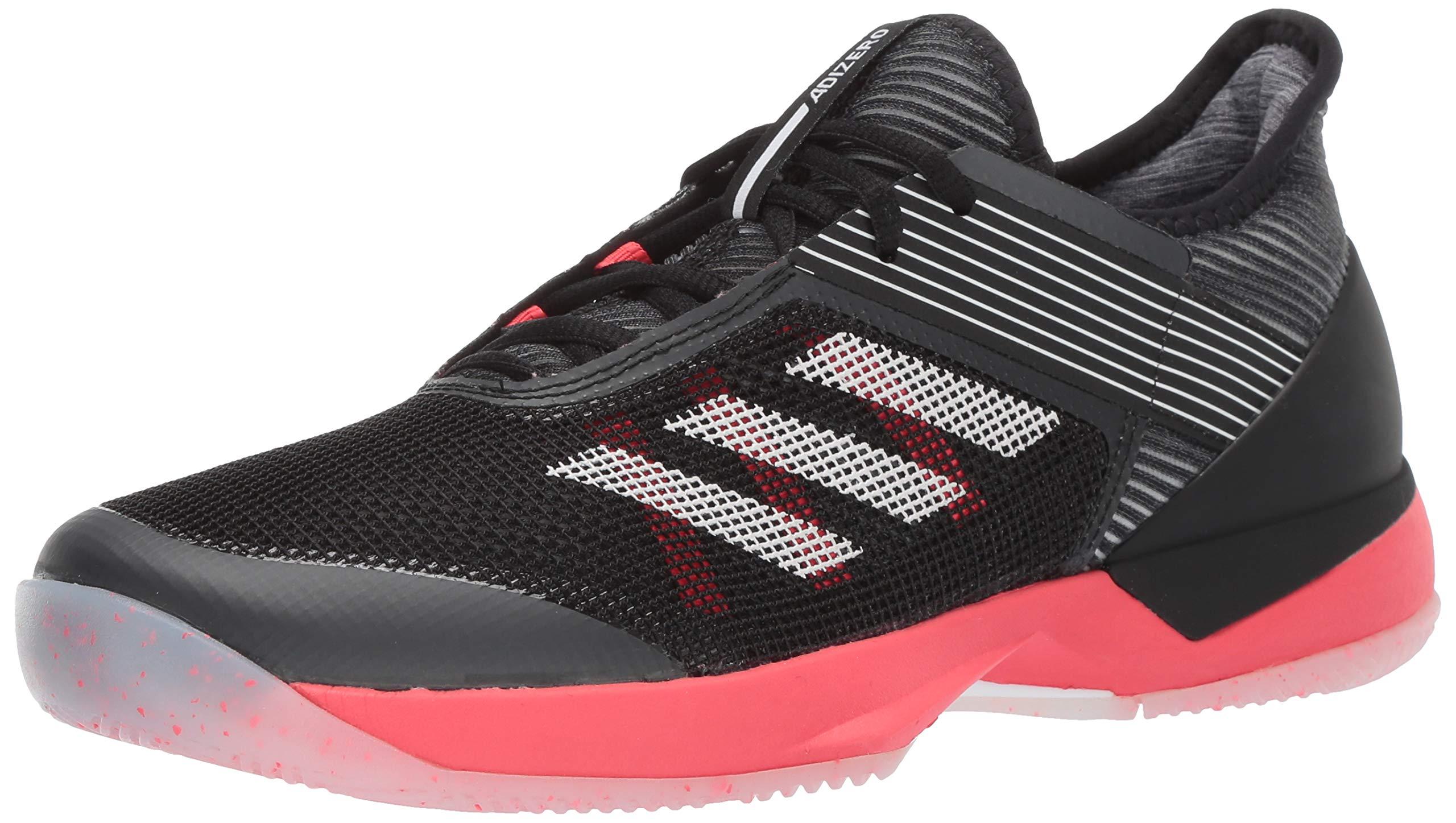 adidas Women's Adizero Ubersonic 3, Black/White/Shock red, 5 M US