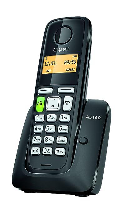 226 opinioni per Gigaset AS160 Telefono Cordless, Vivavoce, Sveglia, Batterie Lunga Durata, Nero