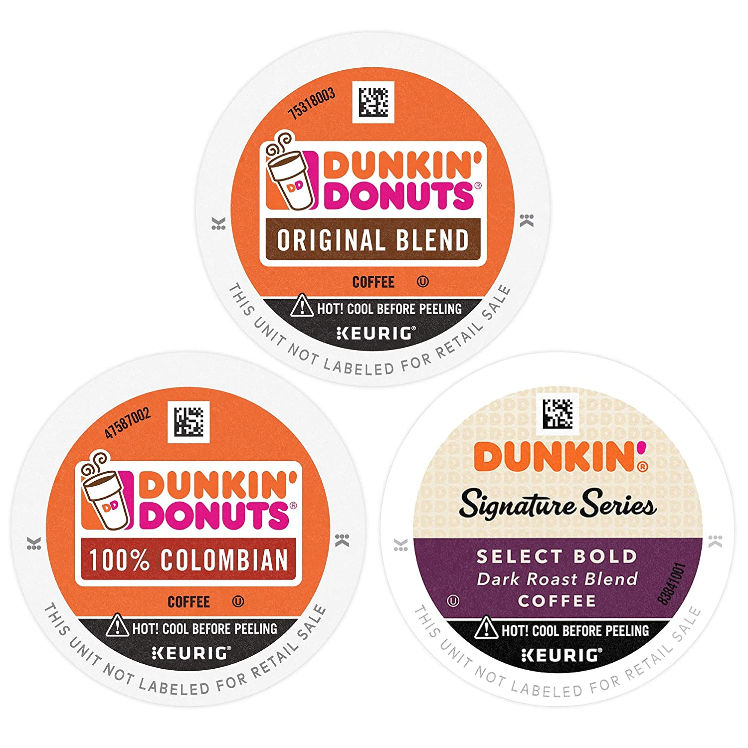 Dunkin' Mixed Roast Coffee Variety Pack, 60 K Cups for Keurig Coffee Makers (Packaging May Vary)