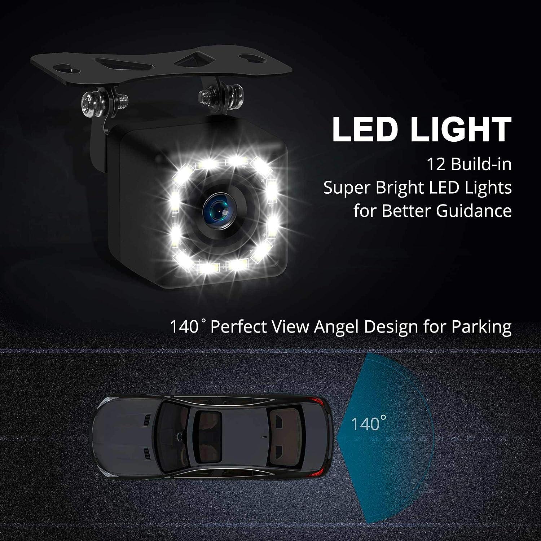 Car Backup Camera, Rear View Camera Ultra HD 12 LED Night Vision,Waterproof on