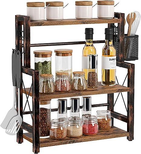 3 Tier Kitchen Spice Rack Bathroom Storage Organizer Bottle Stand Shelf Holder