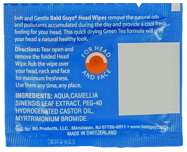 Amazon.com: Bald Guyz Refreshing Head Wipes Fragrance Free, 16 Count ...