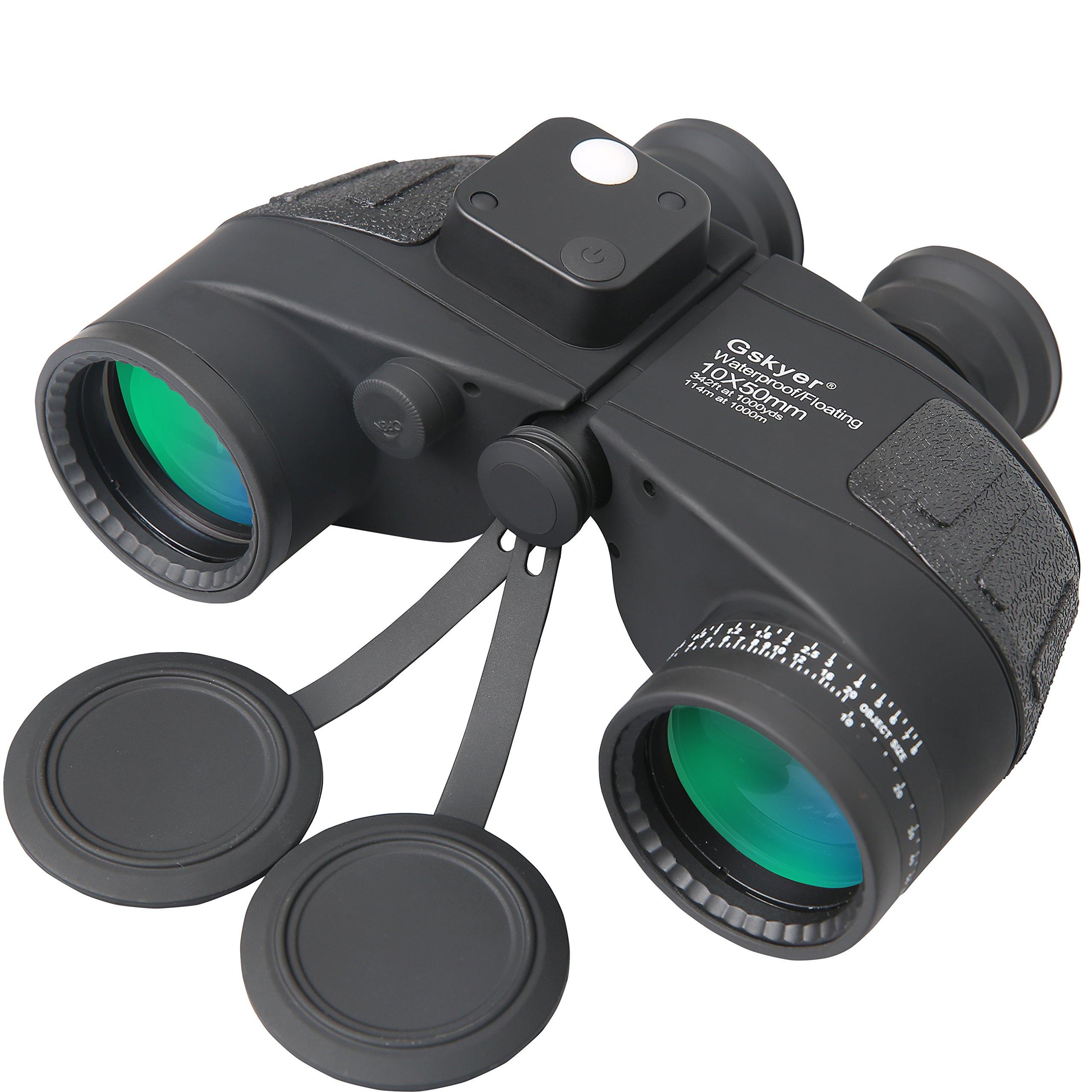 Gskyer Binoculars, 10X50 Bak4 Sightseeing compass Binoculars,travel professional binoculars by Gskyer