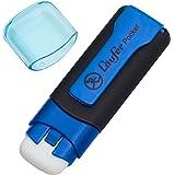 Läufer 69245 Pocket, Radierstift in Markerform, mit Schutzkappe und Clip, blau, Blisterkarte enthält 1 Radiergummi