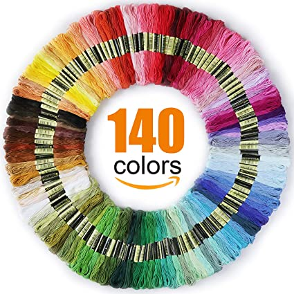 435c9a28f4fb5 Premium Rainbow Color Embroidery Floss - Cross Stitch Threads - Friendship  Bracelets Floss - Crafts Floss - 140 Skeins Per Pack
