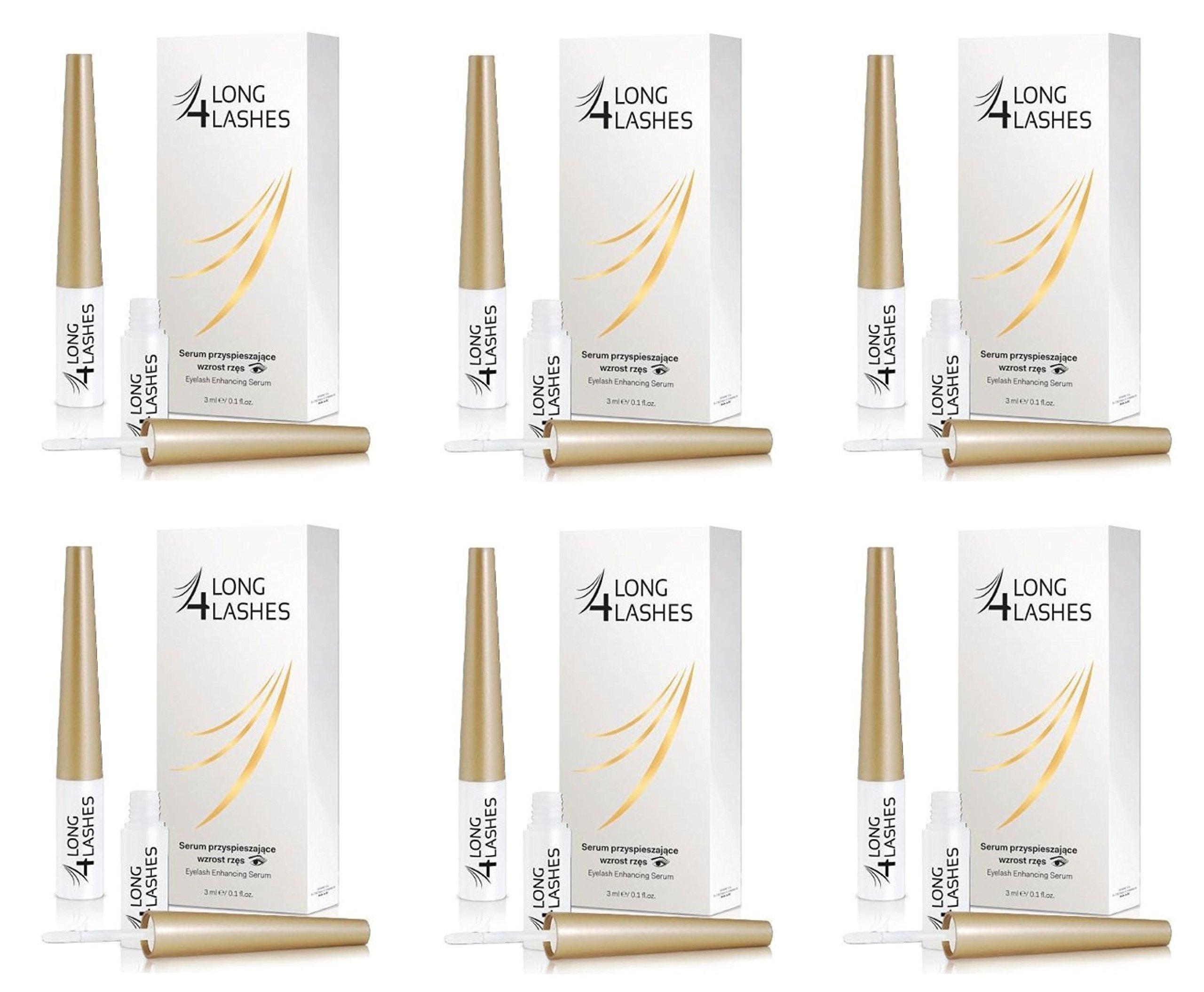 Long 4 Lashes by Oceanic Eyelash Enhancing Serum, 3 ml (Pack of 6)