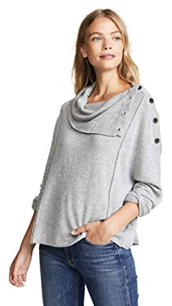 a246a304d2d Splendid Women's Runyon Sweater, Light Heather Grey, Large
