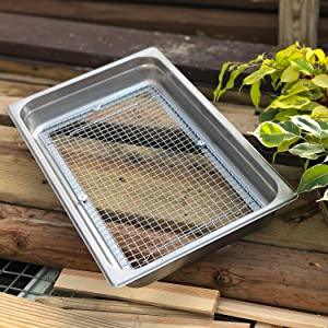 Raw Rutes - Stainless Garden Sifter for Compost, Dirt and Potting Soil - Welded Wire Mesh (Hand Held Garden Sifter) 13