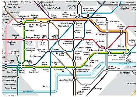 Uk Underground Map A4 icing sheet cake toppers wallpaper background   London Tube  Uk Underground Map