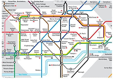 Underground Tube Map London Uk.A4 Icing Sheet Cake Toppers Wallpaper Background London