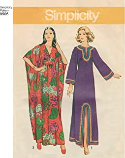product image for Simplicity S 1970's Vintage Fashion Women's Ankle Length Caftan Sewing Patterns, Sizes 10-20