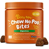 Zesty Paws Chew No Poo Bites - Coprophagia Stool Eating Deterrent for Dogs - Deter & Stop Dog from Eating Feces - Probiotic & Digestive Enzymes - Peppermint Breath Freshener Supplement