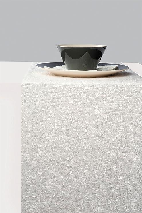 ambiente Camino de mesa Elegance color Blanco Brillo - Relieve ...
