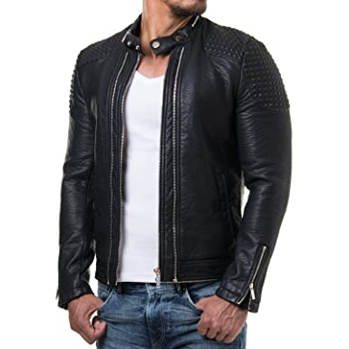 redbridge herren biker kunstleder jacke mit gesteppten bereichen m6037 m6028 m6013 red bridge l. Black Bedroom Furniture Sets. Home Design Ideas