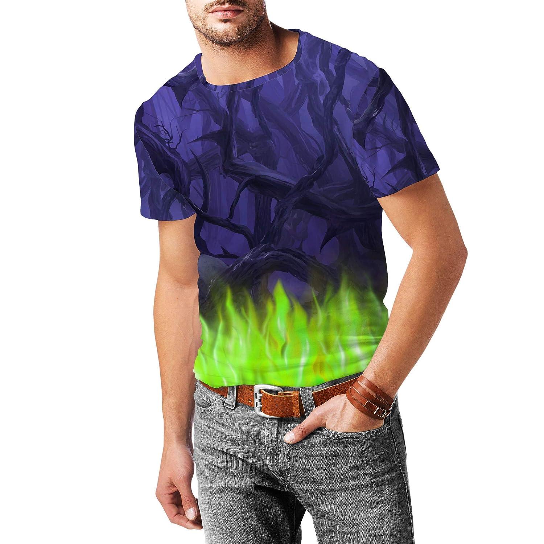 Forest of Thorns Maleficent Disney Villains Inspired Mens Cotton Blend T-Shirt