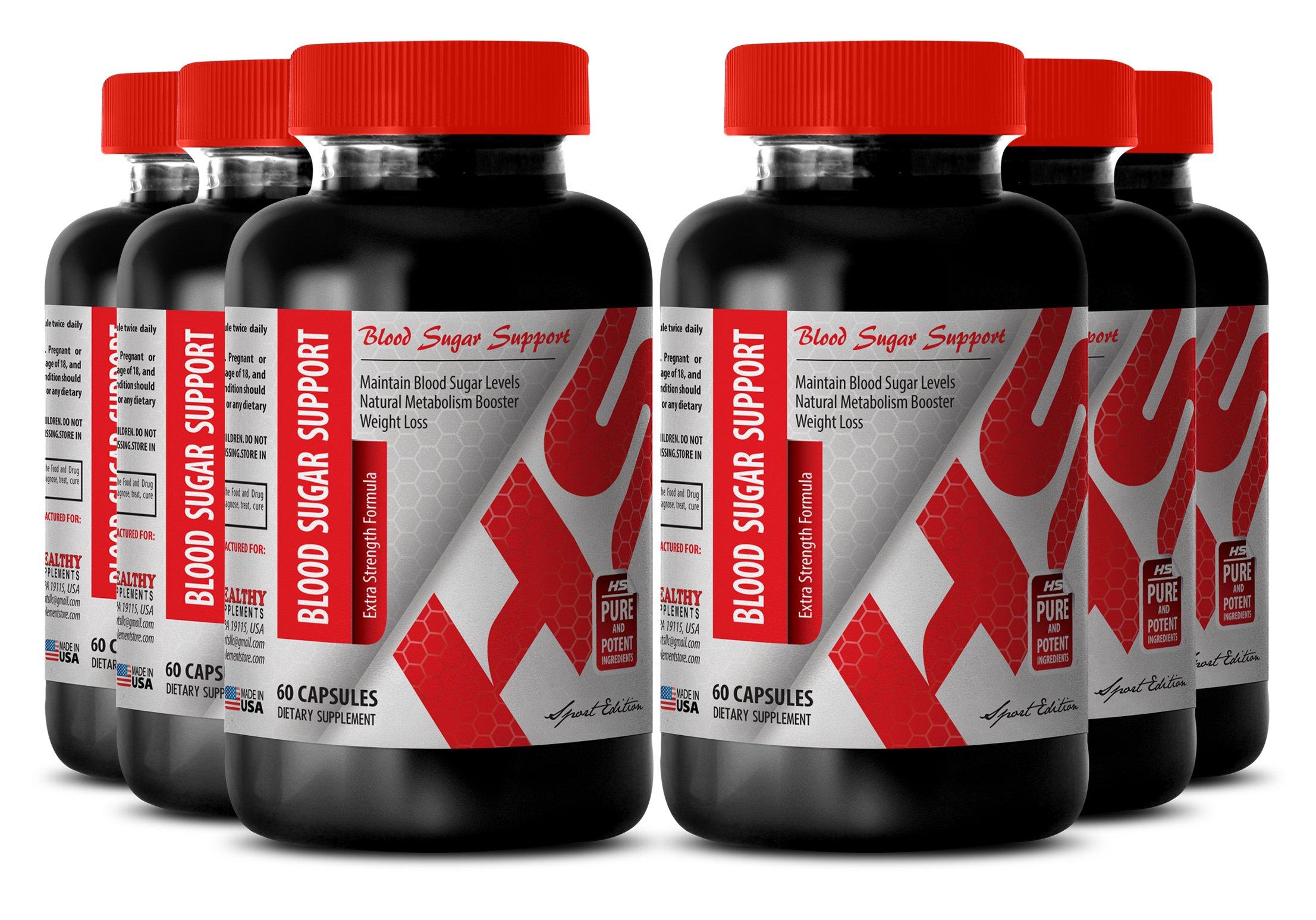 Yarrow supplement - BLOOD SUGAR SUPPORT - for weight maintenance (6 Bottles)