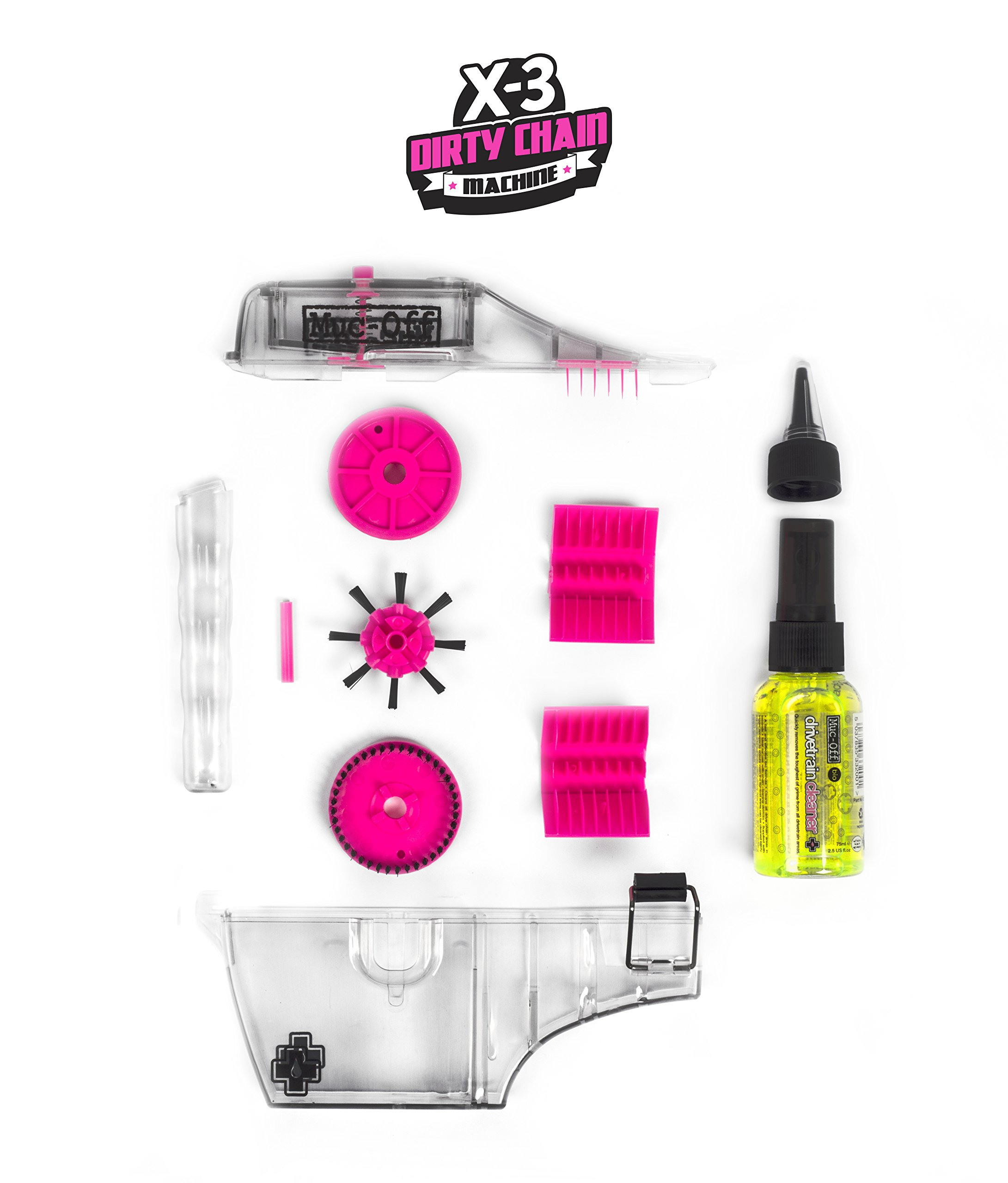 Muc-Off 277 X3 Chain Cleaning Kit (75ml, Yellow) by Muc Off (Image #2)