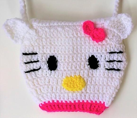 Amazon Cute Hello Kitty Little Girls Handbag Crocheted Adorable
