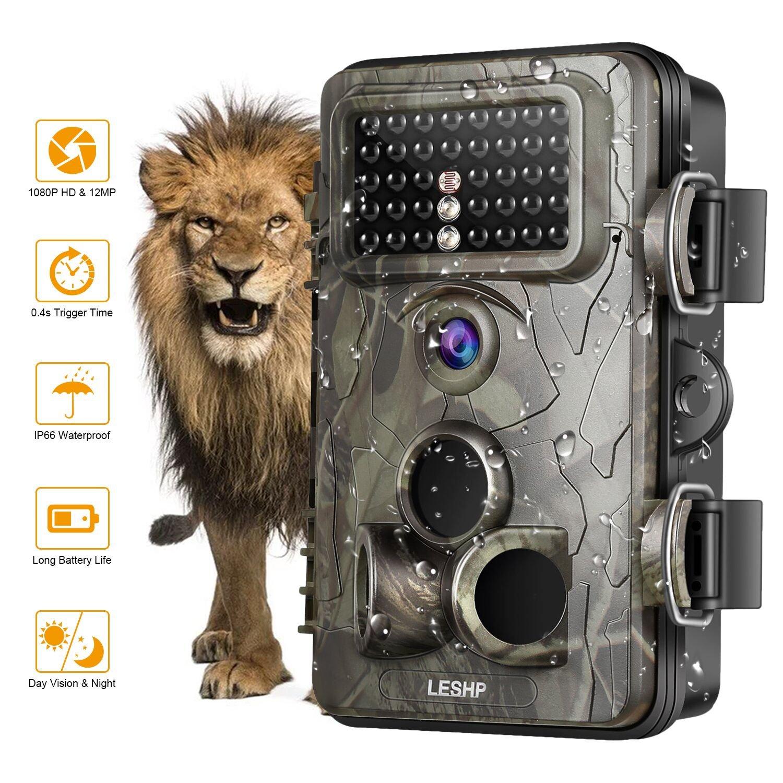 OCDAY Wildkameras Trail Jagd-Kamera 12MP 1080P Full HD Wildkamera mit bewegungsmelder Zeitraffer 65ft 120 ° Weitwinkel fotofalle Infrarot 42pcs IR LEDs Wasserdicht IP66 20m Nachtsicht 2, 4 LCD Bildschirm Scouting Kamera Deer Kamera Digital handy Überwachun