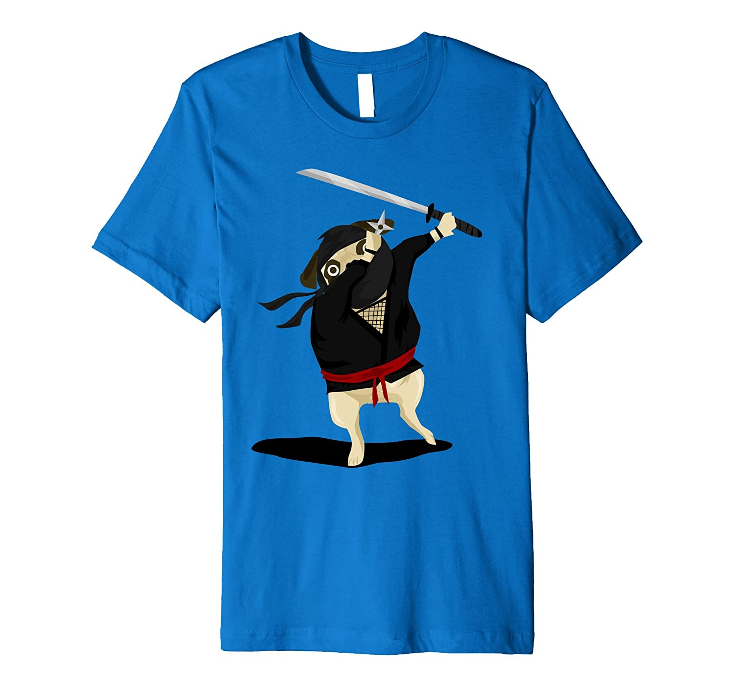 Dabbing Pug Tshirt, Funny Ninja Dog Shirt for Kids-AZP