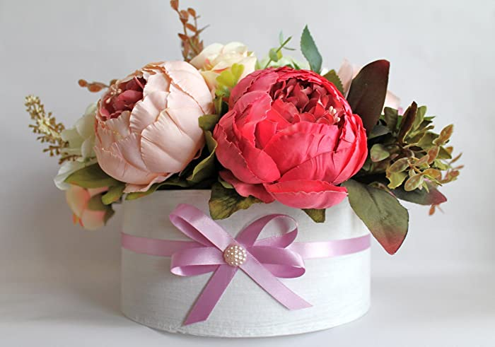Artificial Flower Arrangement Perfect Gift For Mothers Day Or As A Birthday FREE