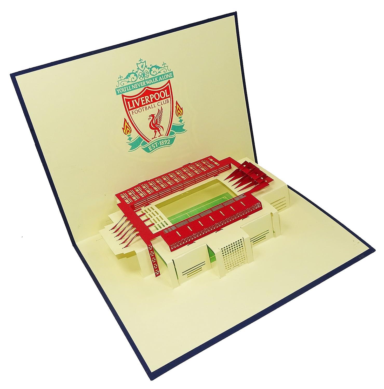 Liverpool Stadium Anfield Stadium Design 3D Pop Up Card Greeting – Liverpool Fc Birthday Card