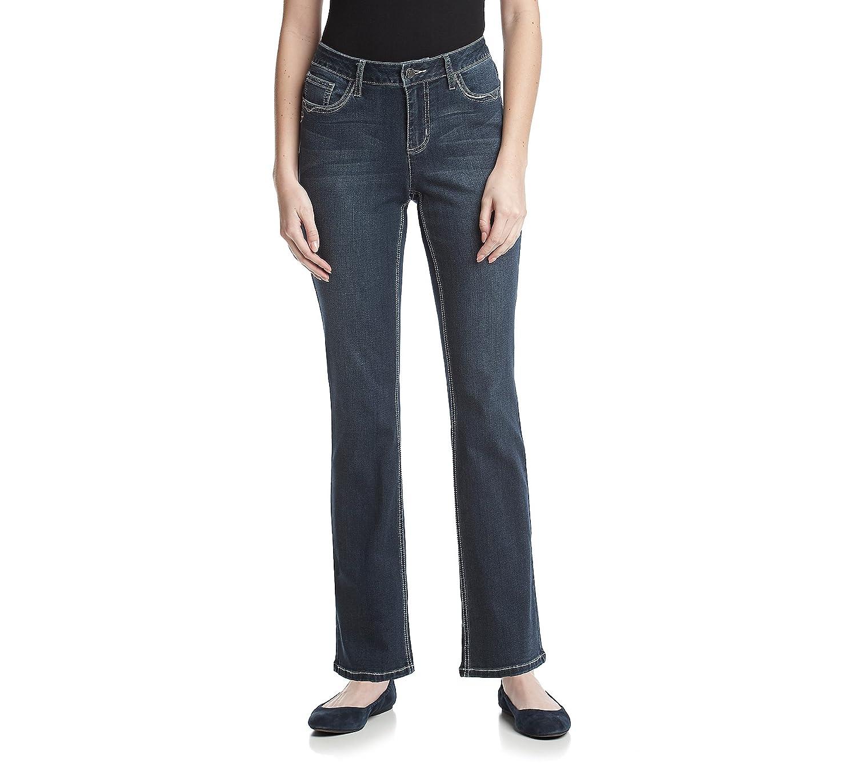 Earl Jean Lace Cross Bling Slim Bootcut Jeans