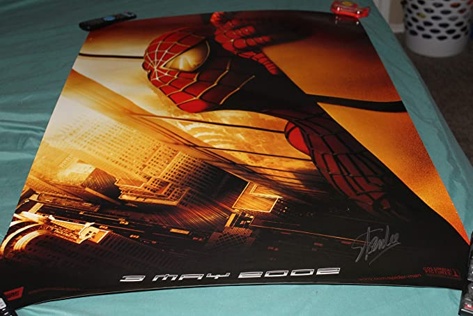 65c8eb0ba0d31 Stan Lee Signed Rare Spiderman Twin Towers 24x36 Poster at Amazon's ...