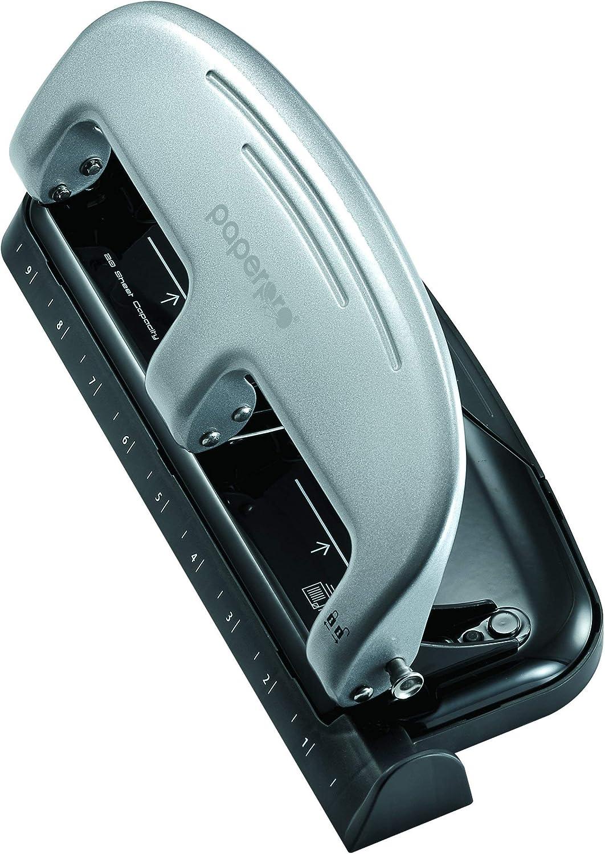- New Black inPRESS 20 Reduced Effort Three-Hole Punch 2220 Silver