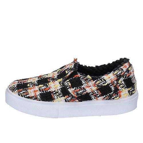 2 STAR - Mocasines de Tela para Mujer Negro/Blanco Size: 40 EU: Amazon.es: Zapatos y complementos