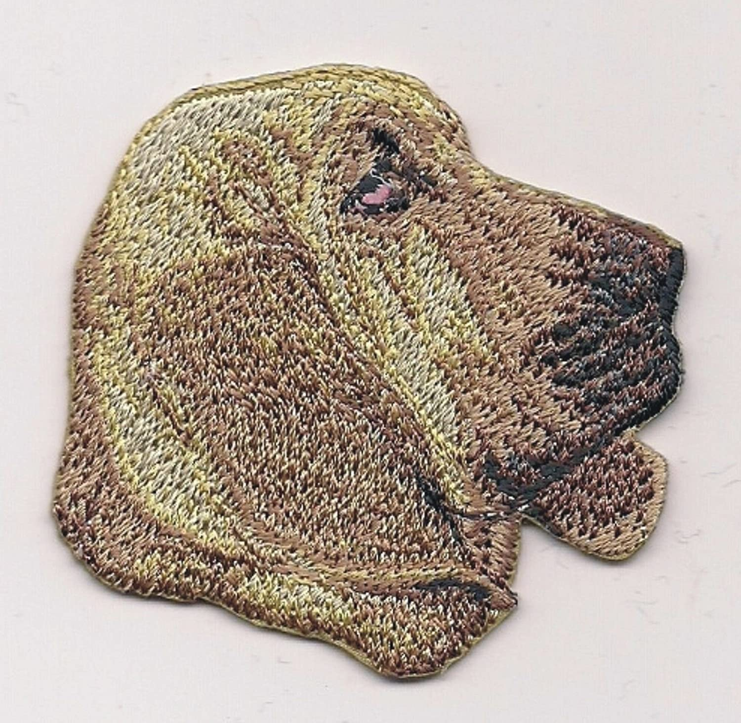 """1 5//8/"""" x 2 1//2/"""" Beauceron Dog Breed Portrait Embroidery Patch"""