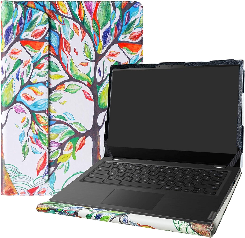 "Alapmk Protective Case for 14"" Lenovo 14e Chromebook/Lenovo Chromebook S345-14AST/Lenovo 14W Windows & HP Pavilion 14-ceXXXX & Dell Latitude 3410 Laptop[Not fit Pavilion 14-bfXXX 14-bkXXX],Love Tree"